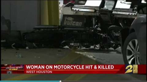 A woman on a motorcycle was killed in road-rage incident in Houston