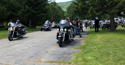 Hundred gather to honor seven motorcyclists killed in crash