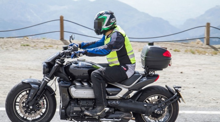 Spy photos of the production version of Triumph Rocket 3 2020