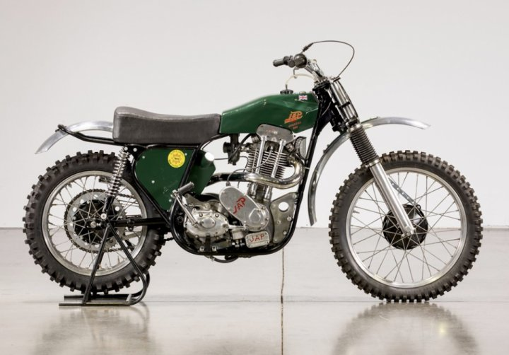 An old motocross BSA/JAP 1952 bike