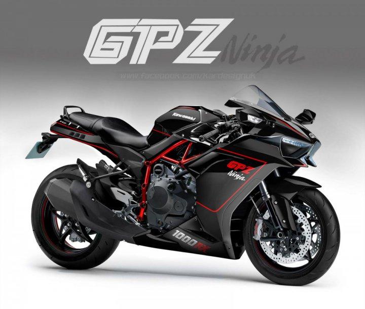 Kawasaki Gpz1000rx H2 Digital Concept Edition By Kardesign