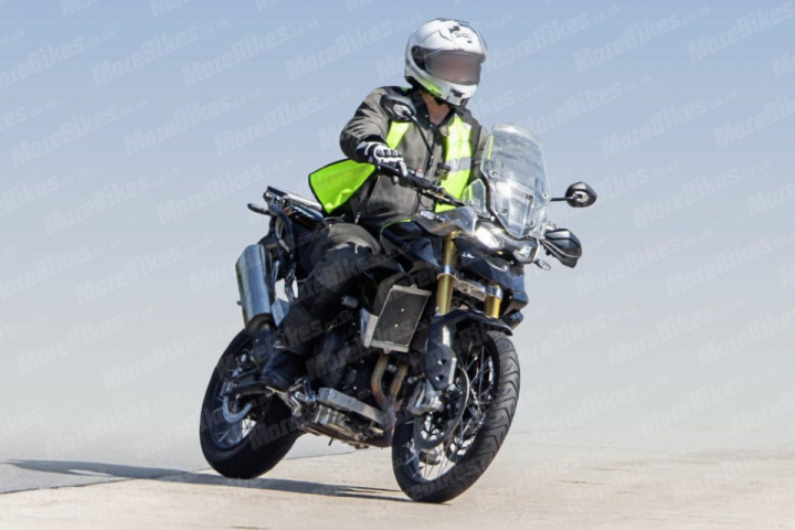Spy photos of Triumph Tiger 900