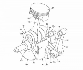 Suzuki patents showed up the engine, similar to Ducati Supermono