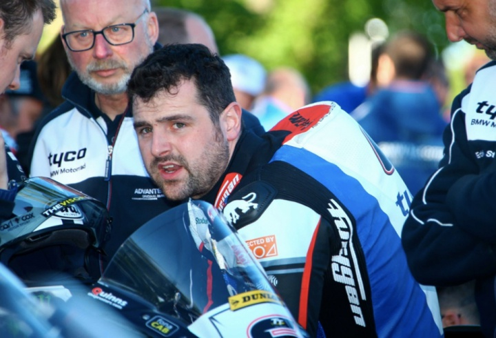 Michael Dunlop suffered a broken pelvis