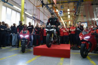 The first Ducati Panigale V4 arrived in dealerships Europe