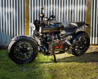 The MadBoxer custom bike with the Subaru engine