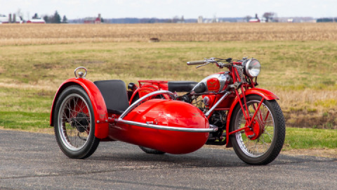 1937 Moto Guzzi GTS 500 Heads to Auction with Matching Sidecar