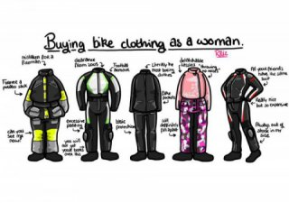 Ladies, need new motorcycle gear? Follow these five shopping tips