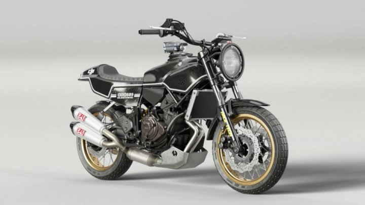 The Rural Racer Is Based On Yamahas New XSR700 Motorcycle From Factory Dips A Toe In Age Cafe Style But Still Features Many Of