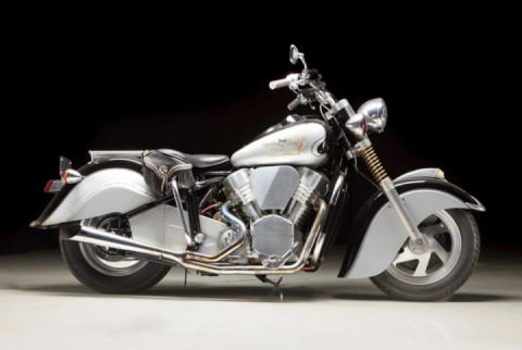 1 of 2 homemade prototypes: Indian Century V-Twin Chief 1994