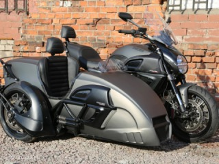 The only Ducati Diavel with a sidecar in the world!