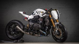 VTR Customs: BMW R1200R White Venom NOS racing custom