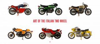 The exhibition of the Italian classic motorcycles by Stuart Parr in Miami