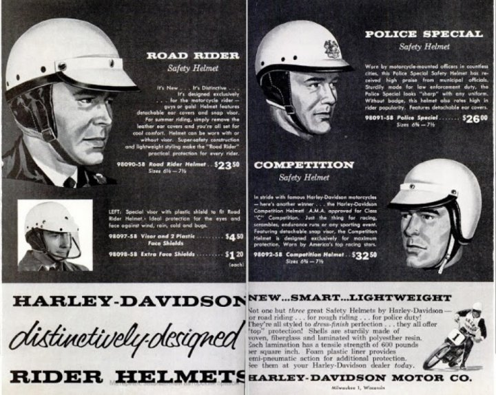 60th anniversary of the first helmet of Harley-Davidson