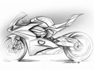 Ducati Panigale V4 designer about his sketches