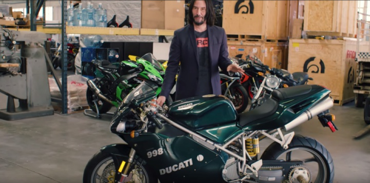 Keanu Reeves Shows Us His Most Prized Motorcycles